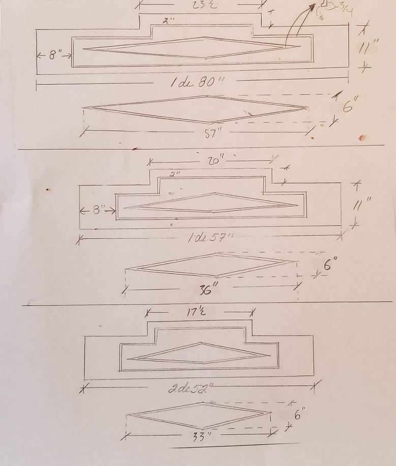 linteaux, Allèges et linteaux